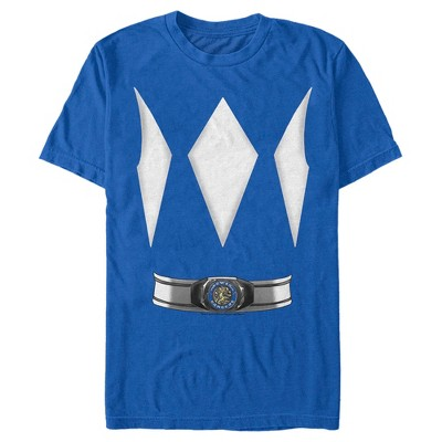 Fifth Sun Mens Power Rangers Slim Fit Short Sleeve Crew Graphic Tee - Blue Medium