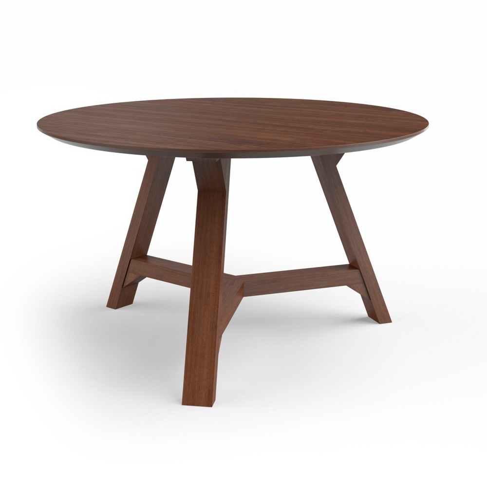 "Image of ""31.5"""" Aubrey Coffee Table with Wood Table Top Walnut - Aeon, Brown"""