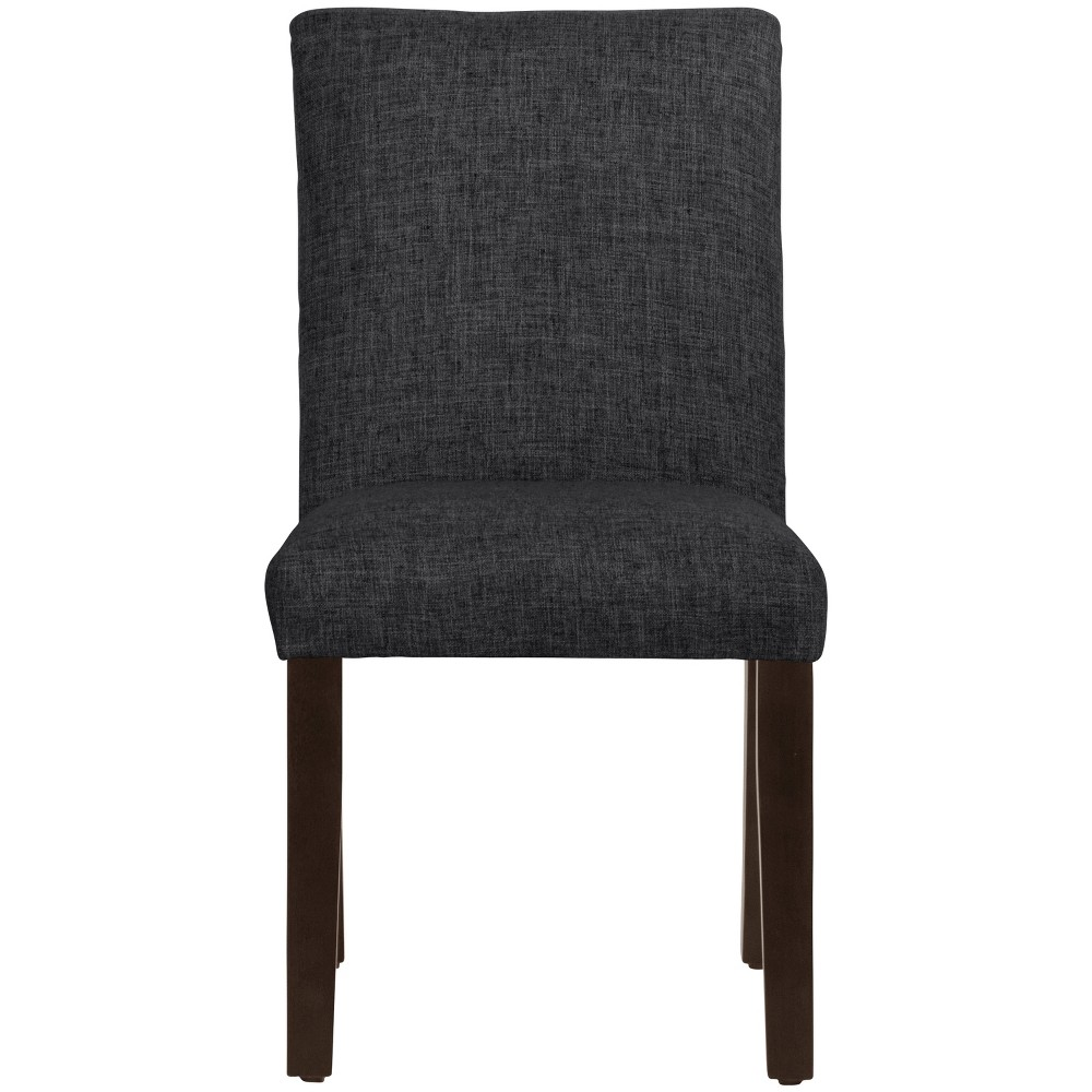 Parsons Dining Chair Black Linen - Threshold Compare
