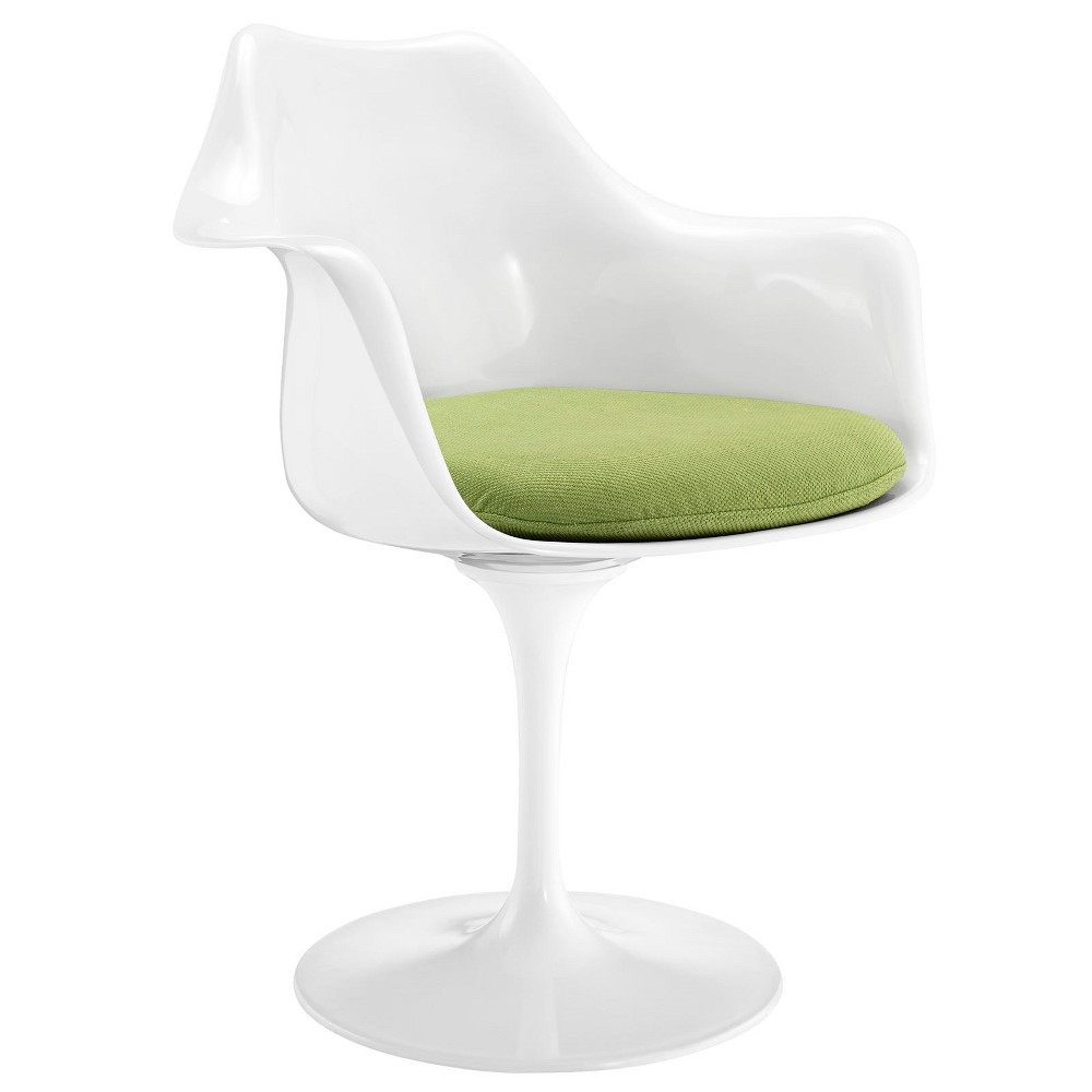 Lippa Dining Fabric Armchair Green - Modway
