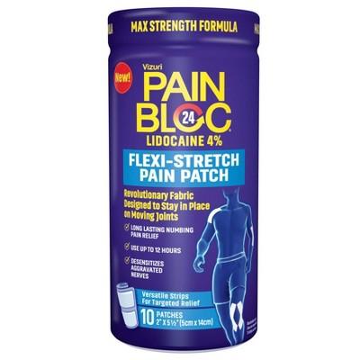 PainBloc24 Flexi-Stretch Pain Tape Lidocaine - 10ct