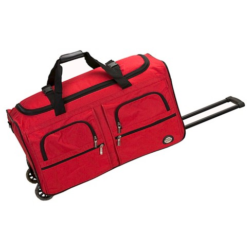 Rockland Rolling Duffle Bag Red 36