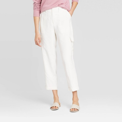 Women's Mid-Rise Straight Leg Ankle Length Utility Pants - A New Day™ - image 1 of 3