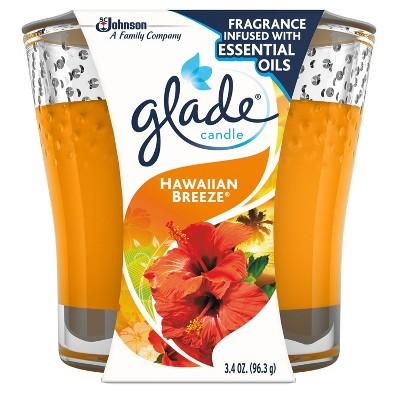 Glade Jar Candle Air Freshener, Hawaiian Breeze, 3.8oz