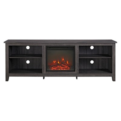 "Modern Media Storage Fireplace TV Stand for TVs up to 80"" - Saracina Home"
