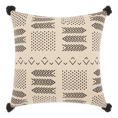 Shapes Throw Pillow Off White - Mina Victory