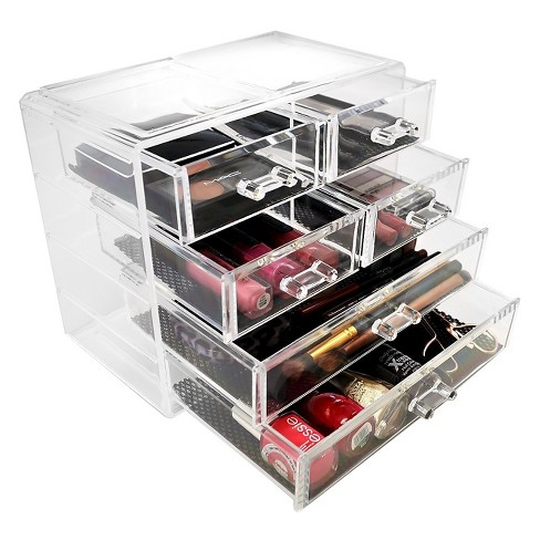 Sorbus Stackable Makeup Storage Display - 2 Large and 4 Small Drawers - image 1 of 4