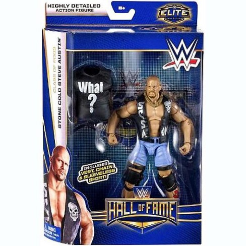 "WWE Wrestling Mattel Elite Steve Austin Shirt Accessory 6/"" Figures HoF /""What?/"""