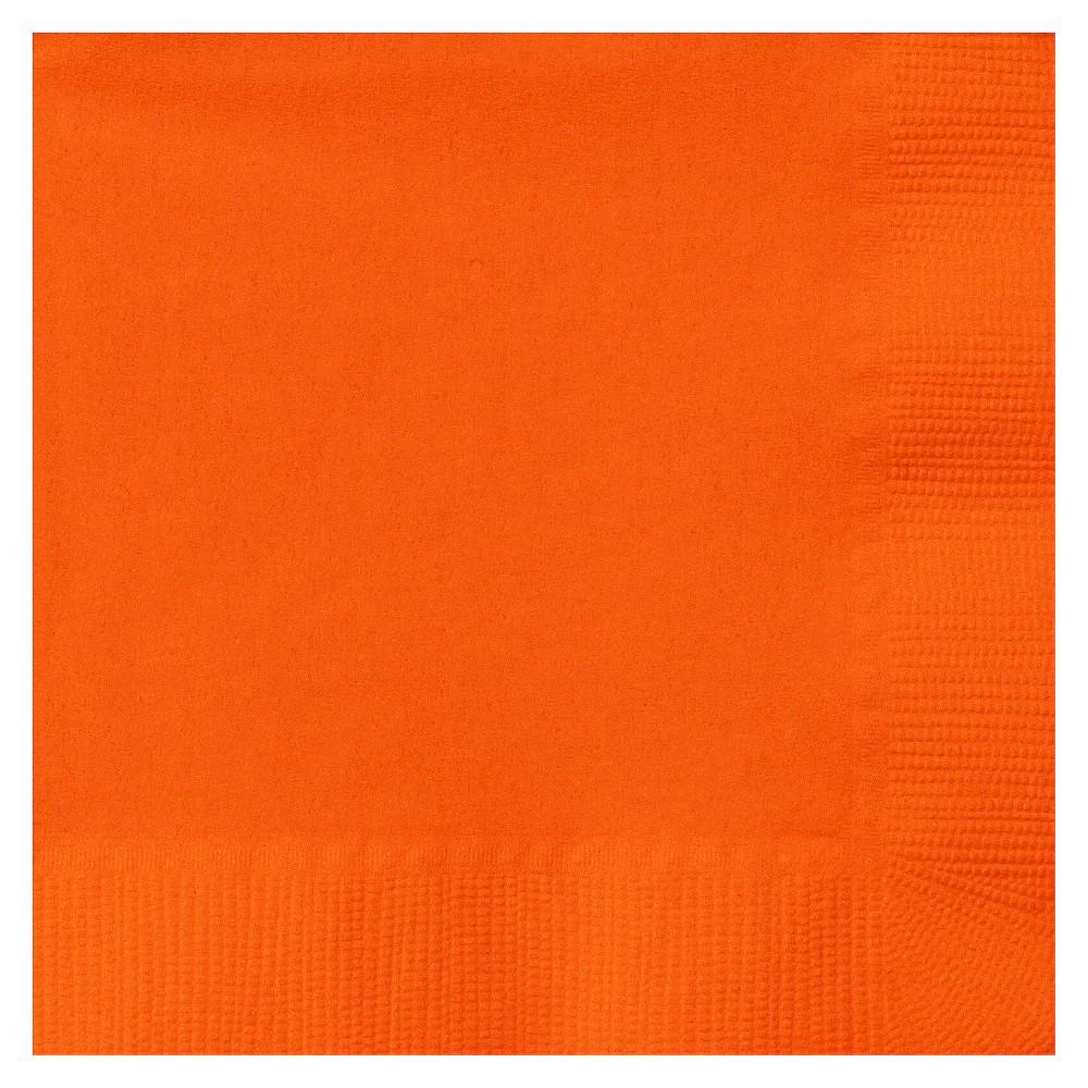 Image of 50ct Orange Cocktail Beverage Napkin
