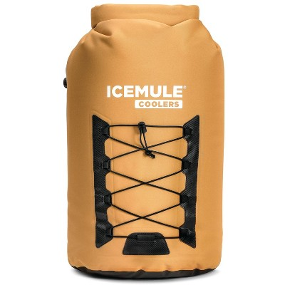 IceMule 1015-TB Pro XLarge Collapsible Portable Soft Sided Roll Top 33 Liter 24 Can Lightweight Insulated Waterproof Leak Proof Backpack Cooler Bag