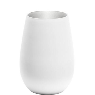 16.5oz 6pk Glass Olympia Tumblers Drinkware Set White/Silver - Stolzle Lausitz