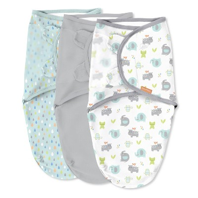 SwaddleMe Original Swaddle Wrap Newborn - Jungle Drops 3pk S/M