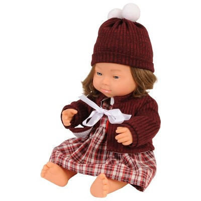 """Miniland Girl Doll with Down Syndrome - 15"""" Doll with Outfit"""