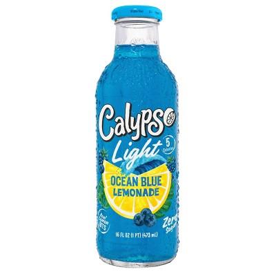 Calypso Light Ocean Blue Lemonade - 16 fl oz Glass Bottle