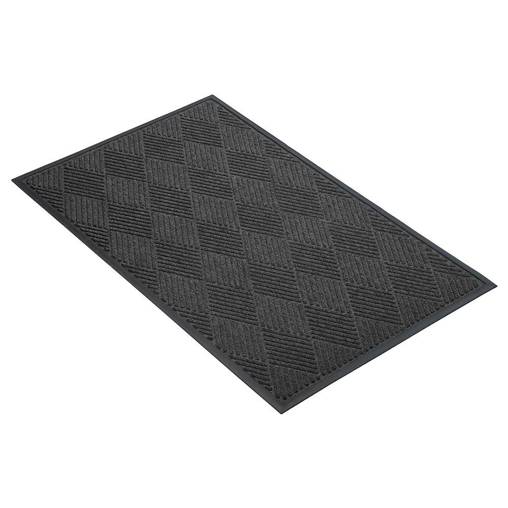Image of Charcoal (Grey) Solid Doormat - (3'X4') - HomeTrax