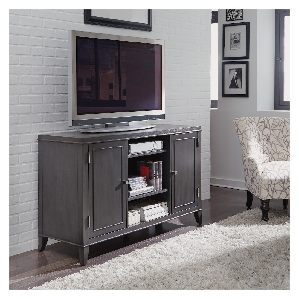Image of 5Th Avenue Entertainment Credenza - Grey Sable - Home Styles, Gray