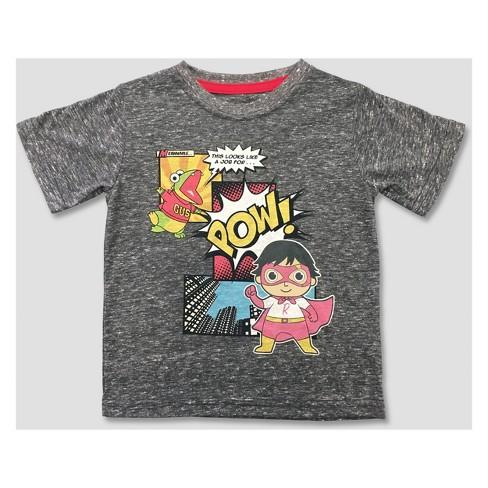 Ryan s World Toddler Boys  Short Sleeve T-Shirt - Gray   Target f1a13c25a83e