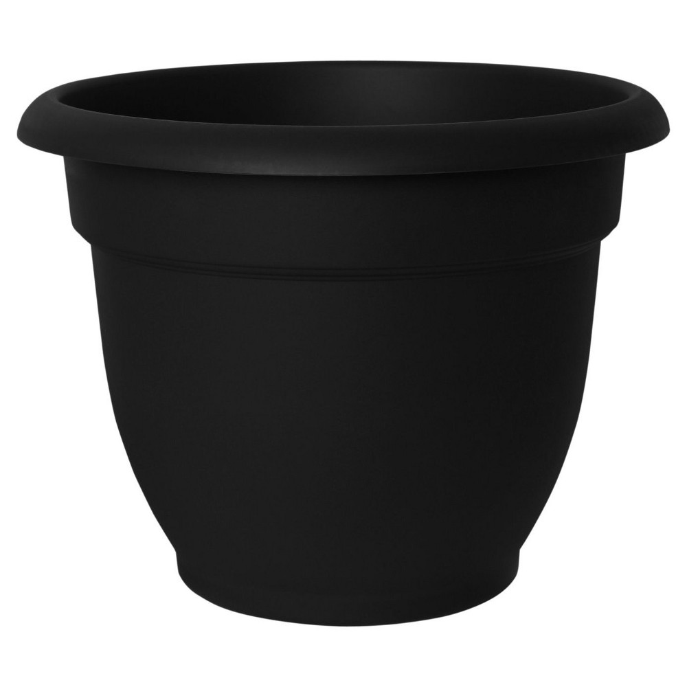 Image of 10Ariana Planter With Self Watering Grid - Black - Bloem