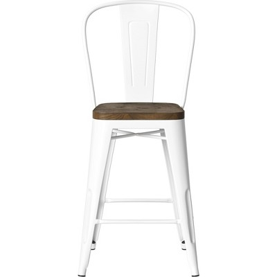 Carlisle Wood Seat Backed Counter Height Barstool - Threshold™