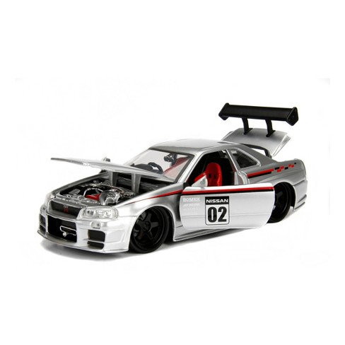 Jada Toys JDM Tuners 2002 Nissan Skyline GT-R (BNR34) Die-Cast Vehicle 1:24 Scale Candy Silver - image 1 of 4
