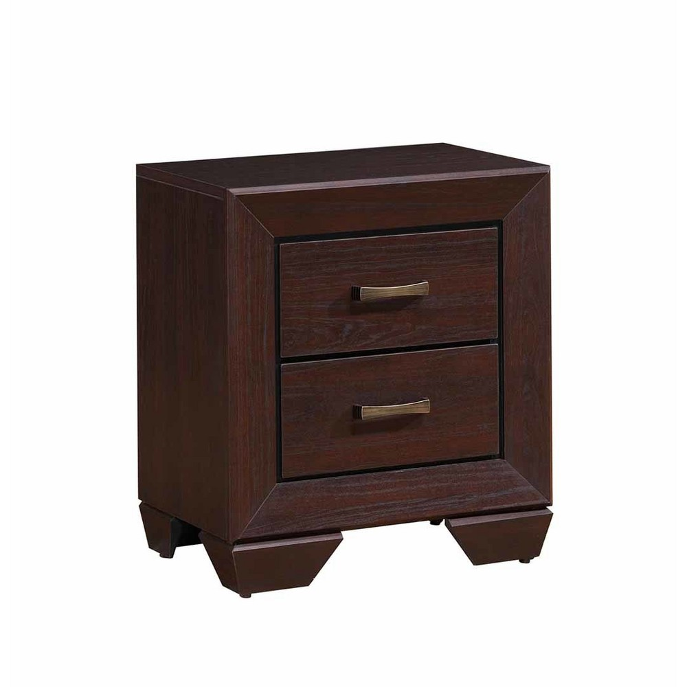 Hayden 2 Drawer Nightstand Dark Cocoa - Private Reserve