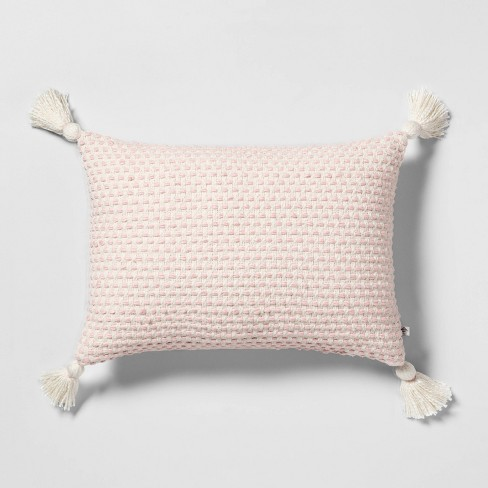 Throw Pillow Pink / Sour Cream with Tassel - Hearth & Hand™ with Magnolia - image 1 of 4