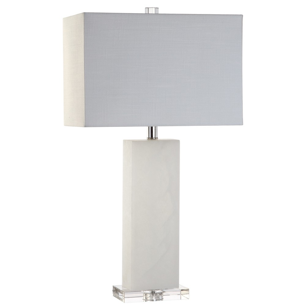 27 Tiggie Alabaster Led Table Lamp White (Includes Energy Efficient Light Bulb) - Jonathan Y