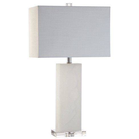 """27"""" Tiggie Alabaster LED Table Lamp White (Includes Energy Efficient Light Bulb) - JONATHAN Y - image 1 of 4"""