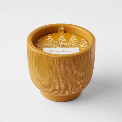8.5oz Global Terracotta Jar Citron Bazaar Candle - Opalhouse™