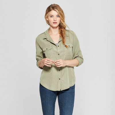 Women's Long Sleeve Soft Twill Shirt   Universal Thread™ by Universal Thread
