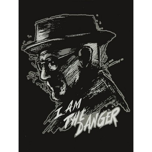 Just Funky Breaking Bad I Am The Danger Lightweight Fleece Throw Blanket | 45 x 60 Inches - image 1 of 1