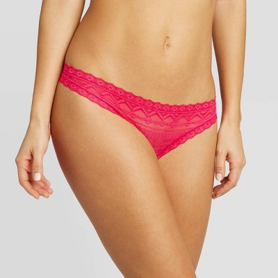 Women's Lace Thong - Auden™ Red Berries M