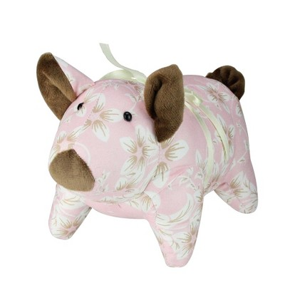 "Northlight 10"" Floral Easter Piglet Spring Decoration - Pink/Brown"