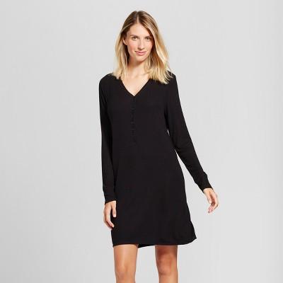 Maternity Nursing Henley Nightgown - Gilligan & O'Malley™ Black M