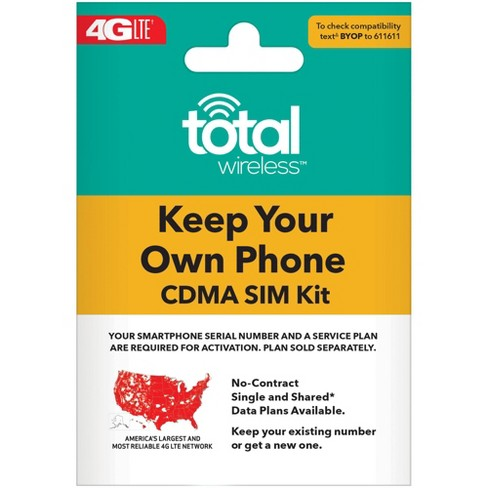 Total Wireless Sim Card Activation Kit - image 1 of 1