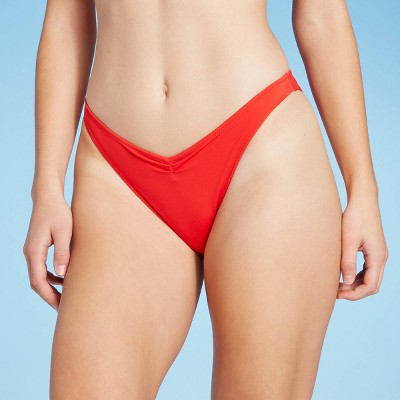 Women's V-Front High Leg Extra Cheeky Bikini Bottom - Shade & Shore™