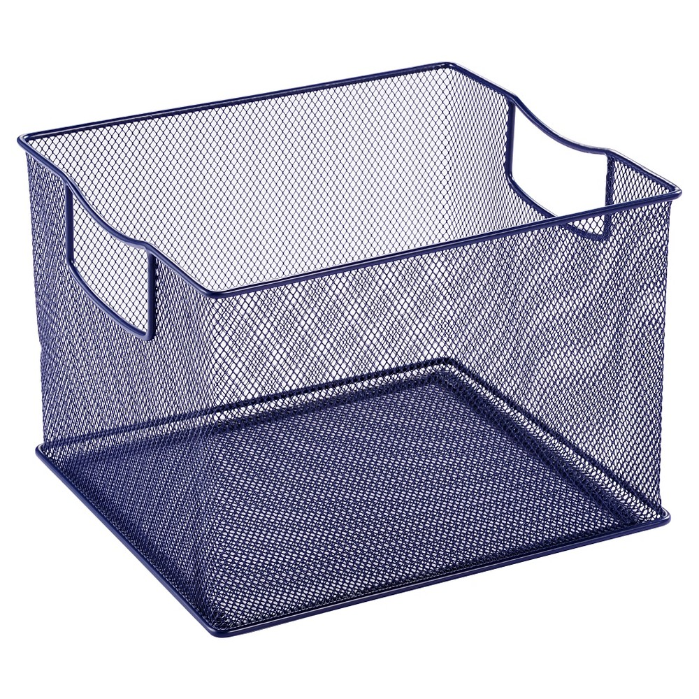 "Image of ""11"""" X 13"""" X 14"""" Wire Decorative Toy Storage Bin Navy - Pillowfort"""