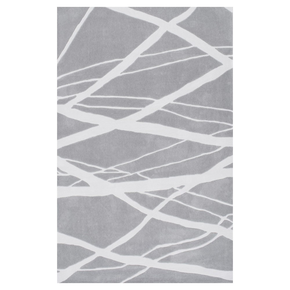 Sterling Gray Stripe Tufted Area Rug - (5'x8') - nuLOOM, Gray Blue