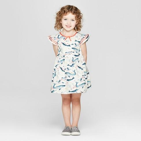 e14768c07a Toddler Girls  Sea Creature A Line Dress - Genuine Kids® From OshKosh Off- White   Target