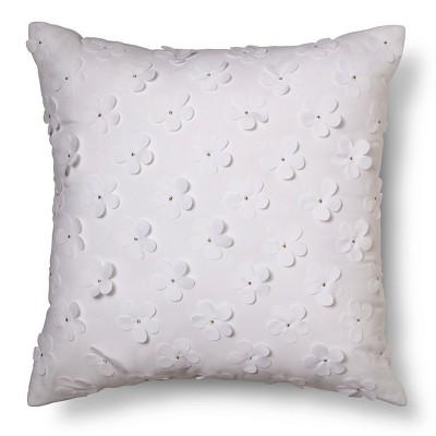 Flower Applique Throw Pillow 16 X16  - Pillowfort™