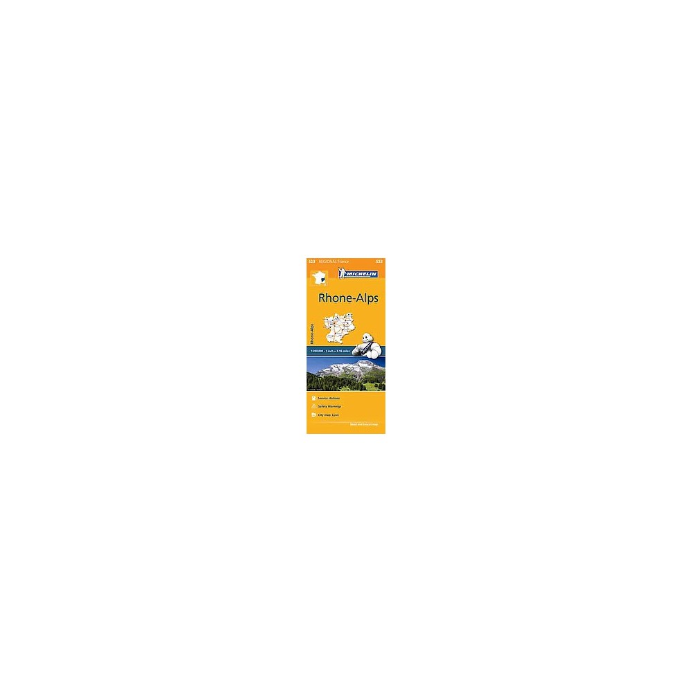 Michelin Regional France : Rhone-Alpes / Phone-Alps (Multilingual) (Paperback)