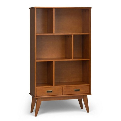 Tierney Solid Hardwood Mid Century Wide Bookcase and Storage Unit - Wyndenhall