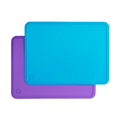 Munchkin Spotless Silicone Placemats - Blue 2pk