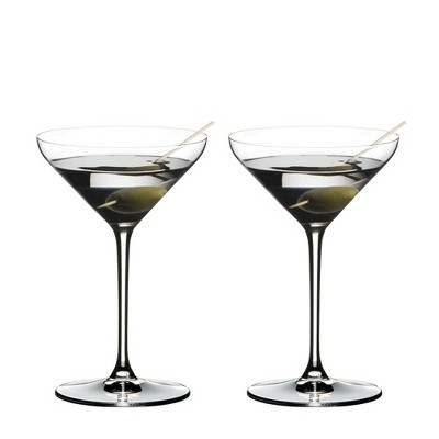 Riedel 4441/17 Extreme Dishwasher Safe Crystal Cocktail Martini Glass, 8.8 Ouce (2 Pack)