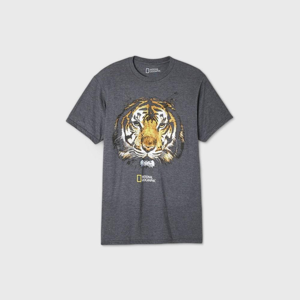Men 39 S National Geographic Big Cat Short Sleeve Graphic Crewneck T Shirt Black S