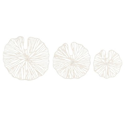 Set of 3 Sizes Handmade Coral Shaped Paper and Metal Decorative Wall Art - 3R Studios