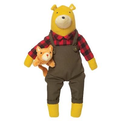 "Manhattan Toy Lemon The Bear + Kitty, Stuffed Animal Bear and Kitty, 9"""