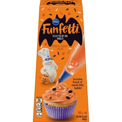 Pillsbury Funfetti Halloween Vanilla Filled Pastry Bag, 16oz