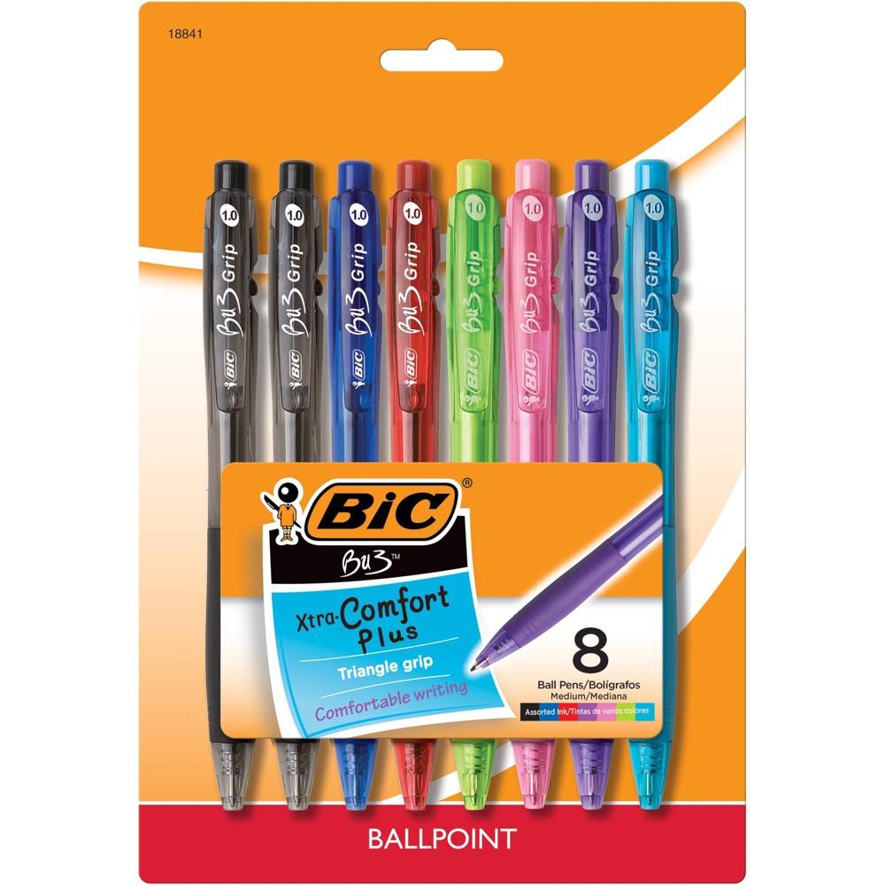 8pk Ballpoint Pens Bu3 Bic