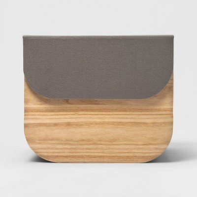 Paulownia Wood Natural Solid Large Milkcrate with Lid - Project 62™
